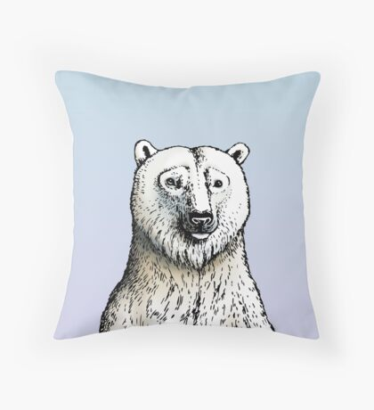 In love with Polar Bear 2 Throw Pillow