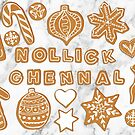 Nollick Ghennal - gingerbread card by Vicky Webb