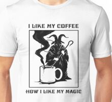 How i like my coffee Unisex T-Shirt