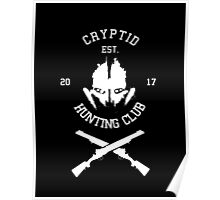 Cryptid Hunting Club (White) Poster