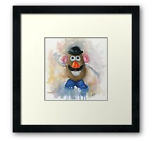 Mr Potato Head - vintage nostalgia  Framed Print