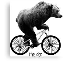 The Den - Bear Cycle Canvas Print