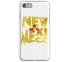 New Mexico Typographic Map Flag iPhone Case/Skin