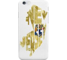 New Jersey Typographic Map Flag iPhone Case/Skin