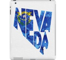 Nevada Typographic Map Flag iPad Case/Skin