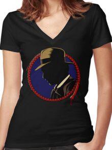Hardboiled Professor Women's Fitted V-Neck T-Shirt