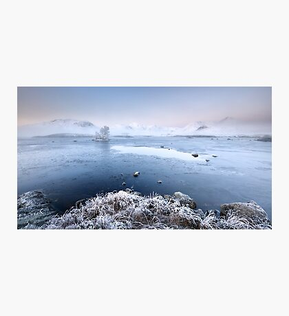 Black Mount Misty Winter Sunrise Photographic Print