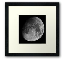 Moon - Waxing Gibbous Framed Print