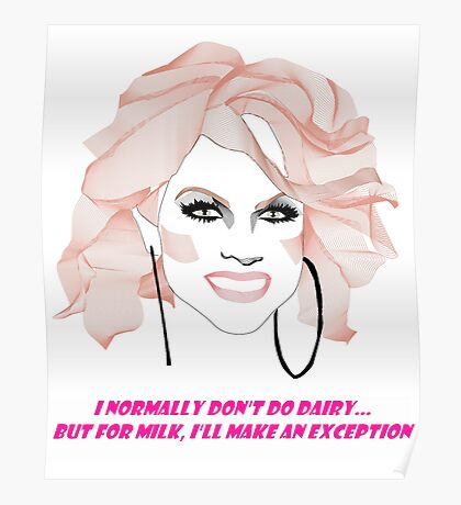 Courtney Act - Milk Poster