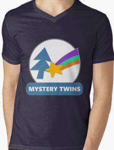 Mystery Twins Emblem Mens V-Neck T-Shirt