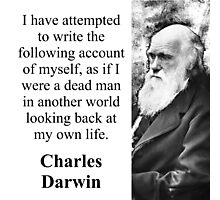 I Have Attempted To Write - Charles Darwin Photographic Print