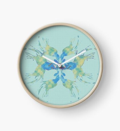 mexico beach colours Clock