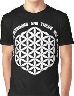 Sacred Geometry: Flower Of Life - Existance Quote Variation Graphic T-Shirt
