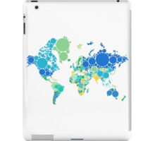 abstract world map with colorful dots iPad Case/Skin