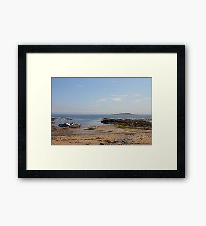 Pladda Lighthouse Framed Print