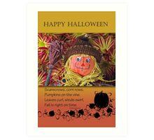Happy Halloween Scarecrow, Cute and Adorable Art Print
