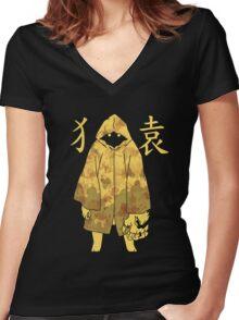Monogatari - Suruga Monkey (stained) Women's Fitted V-Neck T-Shirt