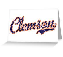 Clemson Blue Script VINTAGE Greeting Card