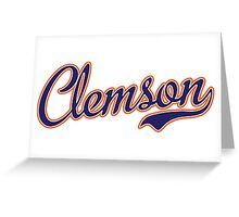 Clemson Blue Script  Greeting Card