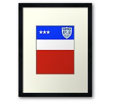 US Soccer World Cup Jersey Framed Print