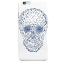 Skull with mesh pattern iPhone Case/Skin