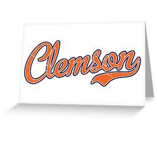 Clemson Orange Script VINTAGE Greeting Card
