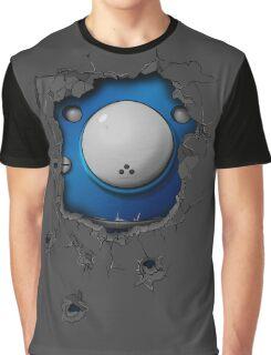 Bullet-riddled wall - Tachikoma Graphic T-Shirt