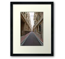 Along the Straight and Narrow Framed Print