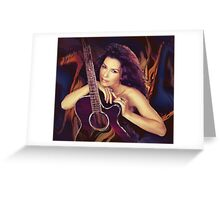 She is not just a pretty face Greeting Card