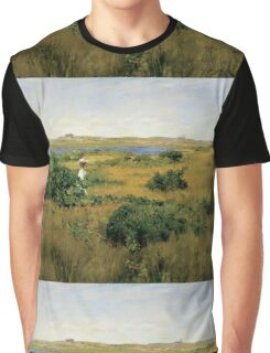 William Merritt Chase - Summer At Shinnecock Hills. Country landscape: Summer , country, travel, garden, rustic, relaxation, rest, game, trees, sun, flowers Graphic T-Shirt