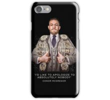 McGregor - 2 Belts iPhone Case/Skin