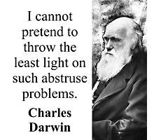 I Cannot Pretend To Throw - Charles Darwin Photographic Print