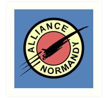 Alliance Normandy Art Print