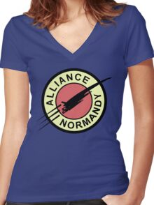 Alliance Normandy Women's Fitted V-Neck T-Shirt