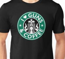 I Love GUNS AND COFFEE Shirt Funny Gun T-Shirt Unisex T-Shirt