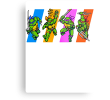 TMNT Turtles in Time Characters Metal Print