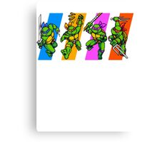 TMNT Turtles in Time Characters Canvas Print