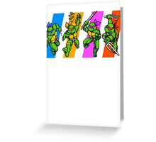 TMNT Turtles in Time Characters Greeting Card