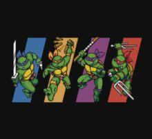 TMNT Turtles in Time Characters Kids Tee