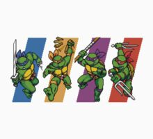 TMNT Turtles in Time Characters Baby Tee