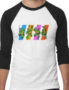 TMNT Turtles in Time Characters Men's Baseball ¾ T-Shirt