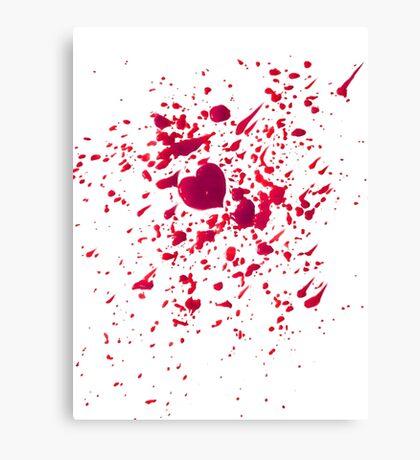 #LOVEHURTS (Zombies) Canvas Print