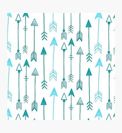 ARROWS BLUE Photographic Print