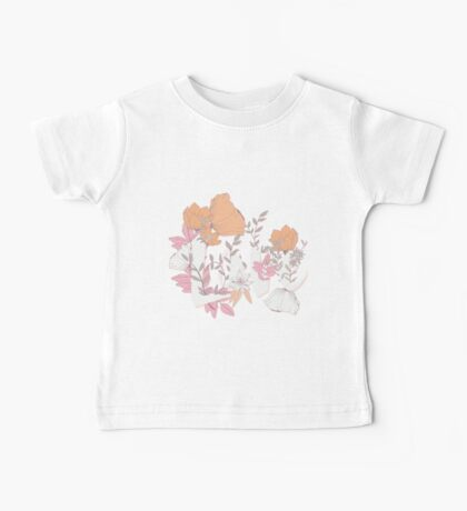 Flowers typography poster design, Love Baby Tee