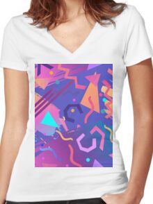 Hello Memphis!  Women's Fitted V-Neck T-Shirt