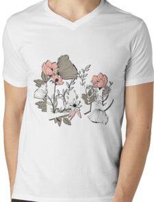 Flowers typography poster design, Love Mens V-Neck T-Shirt