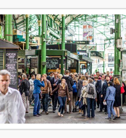Borough Market Crowds Sticker