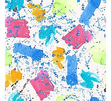 Colour Splash Brush Strokes Photographic Print