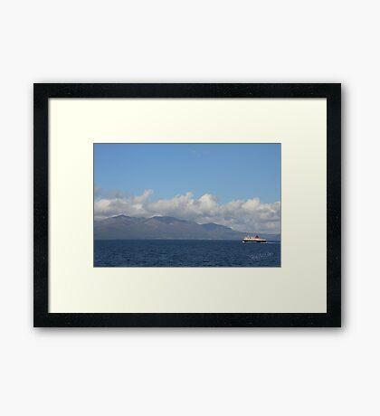 MV Caledonian Isles approaching Arran Framed Print