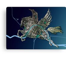 Basel Citymap Artwork | PEGASUS Canvas Print